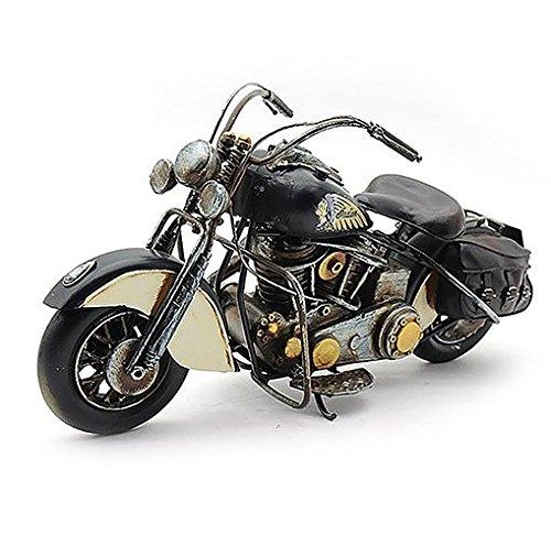 Lesser & Pavey - Lata de metal para decoración de moto, 36 cm, color negro