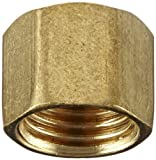 Anderson Metals 54040 Brass Tube Fitting, Cap, 1/4