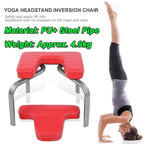 Lowest Prices! Isaa Miilne Yoga Chair Headstand Inversion Bench Headstander Home Gym Fitness Exercis...