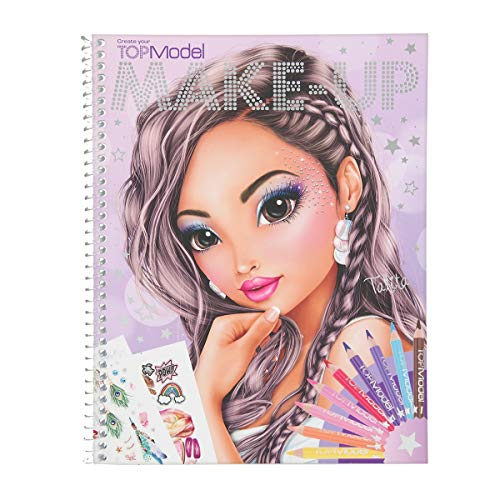 Depesche 10728 Malbuch, TOPModel Create your Make-Up, ca. 24 x 19,5 x 1 cm