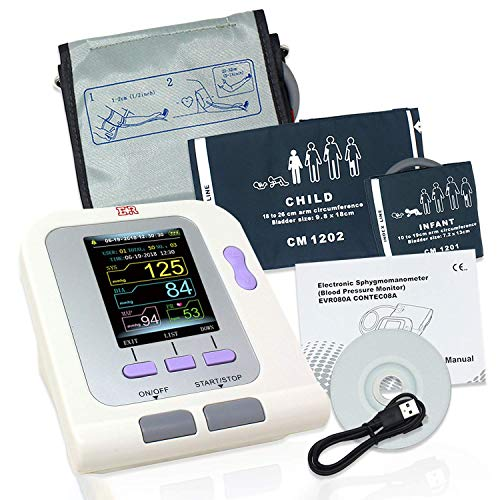 Fully Automatic Upper Arm Blood Pressure Monitor 3 Mode 3 Cuffs Electronic Sphygmomanometer