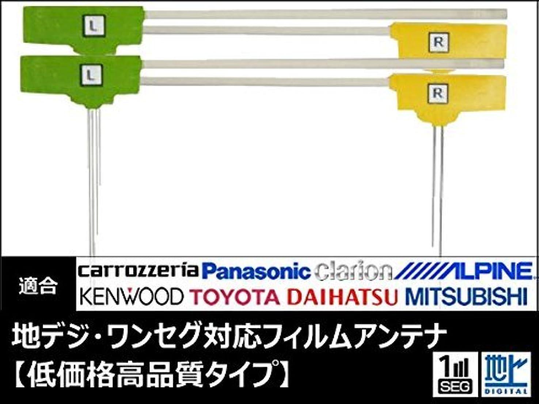 悪夢リム地震NR-MZ200PREMI 対応 地デジ アンテナ フィルム エレメント 4枚 セット 【低価格高品質タイプ】