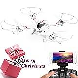 DBPOWER Drone con Telecamera, X400W FPV Quadricottero Wi-Fi per Video dal Vivo, Headless Mode,...