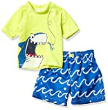 Wippette Boys' Baby Two Piece Printed Rashguard Sets, Electric Blue, 12M