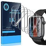 LK Compatible con Apple Watch Series 3 42mm Protector de Pantalla, 6 Pack,TPU-Film,Alta definición,Sensible al Tacto