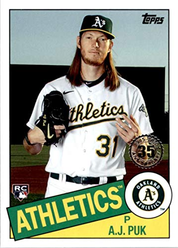 2020 Topps Update 35th Anniversary #85TB-32 A.J. Puk Oakland Athletics MLB Baseball Card NM-MT