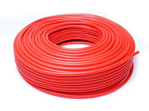 HPS HTSVH35-REDx25 Red 25' Length High Temperature Silicone Vacuum Tubing Hose (60 psi Maxium Pressure, 3.5mm ID)