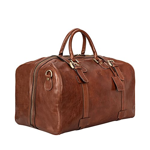 Maxwell Scott Bags® Luxus Herren Leder Reisetasche