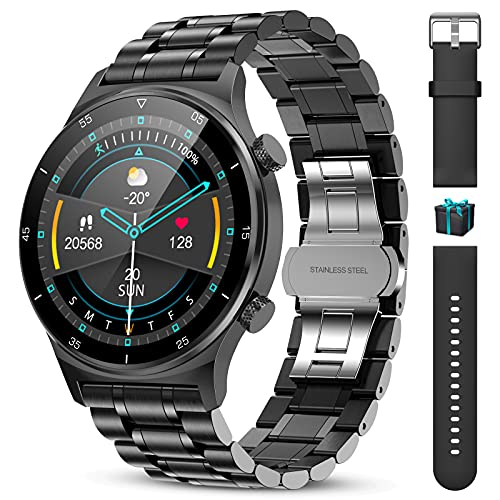 LIGE Smartwatch Reloj Inteligente Hombre,1,32''HD Pantalla Táctil , Monitorización de Frecuencia Cardíaca/Sueño, 8 Deportivos Modos, Cronómetro Podómetro Impermeable IP68 para iOS Android(Negro)