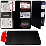 Zzteck Car Registration and Insurance Holder - PU Leather Vehicle Glovebox Visor Organizer...