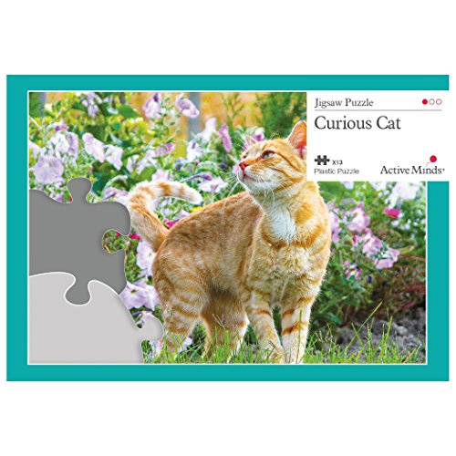 Active Minds 13 Piece Jigsaw Puzzle Set: Specialist Alzheimer's / Dementia Activities and Games (Curious Cat)
