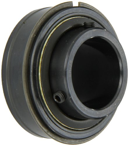 Sealmaster ER-28 Cylindrical OD Bearing, Setscrew Locking Collar, Light Contact Felt Seals, 1-3/4