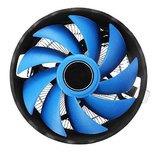 Zjcpow Computadora CPU Cooler Fan 120mm 3 Pin CPU refrigeración ventilador disipador de calor para Intel LGA 775/115X AMD FM1/AM3+/AM3/AM2 PC casos