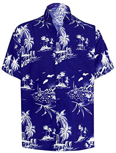 LA LEELA Mujeres Caftán Rayón túnica Tie Dye Kimono Libre tamaño Largo Maxi Vestido de Fiesta para Loungewear Vacaciones Ropa de Dormir Playa Todos los días Cubrir Vestidos Azul Marino_X930
