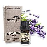 [page_title]-rooted.® - 5ml Lavendelöl - 100% naturreines ätherisches Lavendelöl (Lavandula Angustifolia) - EU Erzeugnis - Lavendel für Aromtherapie, Naturkosmetik, Entspannung, Massageöl