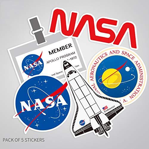 Astronaut Ruimte Vlucht Waterdichte Pvc Stickers Sets Laptop Pitcher Fles Bagage Notebook Versier Speelgoed Voor Bo 5 Stks/set