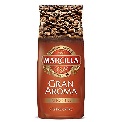 Café en grano para moler,La combinación perfecta de café mezcla, para los grandes amantes del café en grano,Su profundo cuerpo e intenso sabor, lo hacen ideal como base para bebidas con leche,1 paquetes de1000 gr