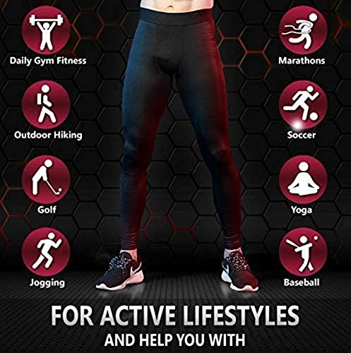 Self Pro Men's Thermal Compression Pants Athletic Sports Leggings...