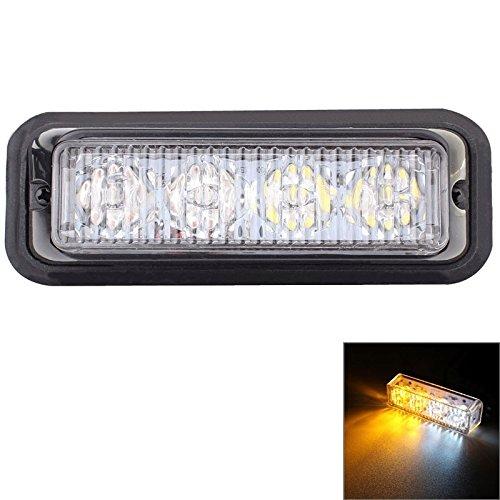 Lumières de haute qualité, mz 12w 720lm 6500k 635nm 4-led white + lumière rouge clignotant lumineux clignotants micro voiture 95cm, dc12-24v, longueur du câble: (SKU : S-CMS-2438Y)