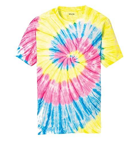 Koloa Surf Co.Colorful Tie-Dye T-Shirt,M-Neon Rainbow