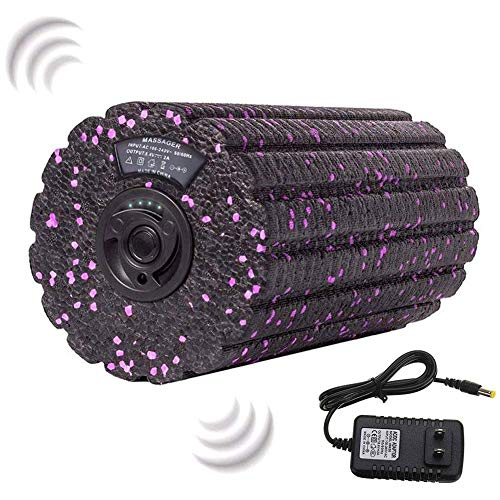 Nicololfle Vibrating Foam Roller, High Intensity 4 Speed Firm Density,Vibrating Foam Roller for Deep Tissue Muscle Massage
