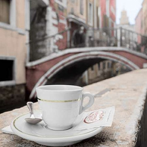 Posterazzi Canal Espresso Bar Guiseppi Poster Print by Alan Blaustein (12 x 12)