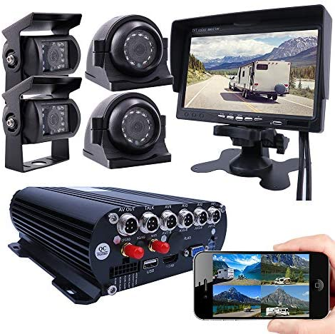 JOINLGO 4 Channel GPS WiFi 1080P AHD HDD Mobile Vehicle Car DVR MDVR Video Recorder Kit Real product image