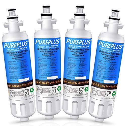 PUREPLUS 469690 Replacement for LG LT700P, ADQ36006102 Kenmore Elite 9690 Refrigerator Water Filter, ADQ36006101, LFXS30766S, LFX28968ST, LFX31925ST, LFX31945ST, LFXS29626S, RWF1052, RWF1200A, 4PACK