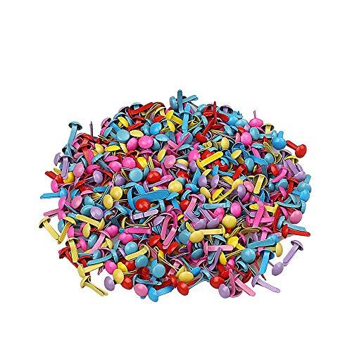 200pcs mini brads, broches redondos del metal de la mezcla multicolora para el arte de papel que sella la herramienta de Scrapbooking DIY