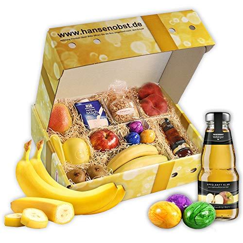 Obstbox Good Morning mit frischem Obst und Leckereien für ein leckeres Frühstück zu zweit in klassischer Geschenkbox