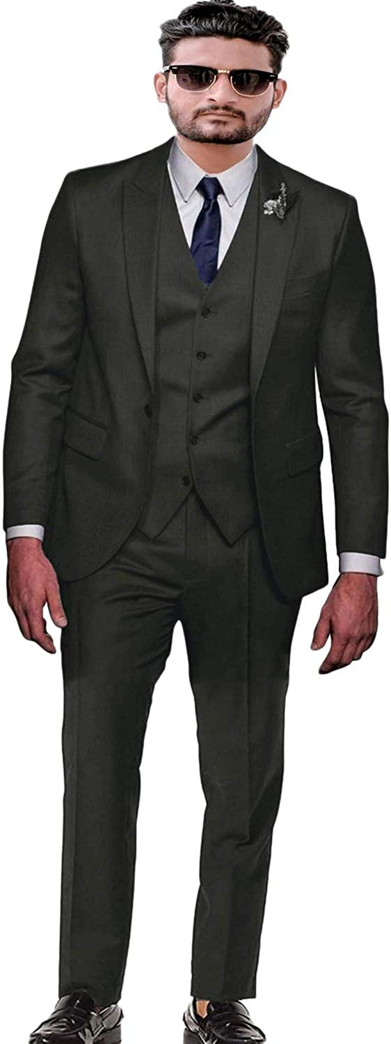 FAIOKAVER Men's Suits for Wedding Regular Fit Big and Tall Tuxedo Suits for Groom