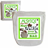 Bolsa de leche de almendra Alsyiqi, reutilizable, de malla fina, colador de alimentos multiusos, 1 unidad, nailon, Blanco, 100 Mesh
