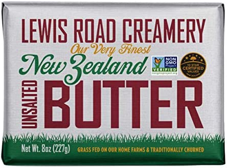Lewis Road Creamery Butter Unsalted Grass Fed Traditionally Churned 8 Ounce 4 Pack product image