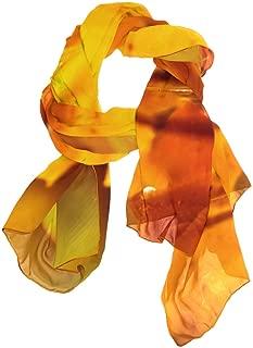 Scarf Falling Red Leaves Ladies Thin Shawl Wrap Girls Chiffon Scarves