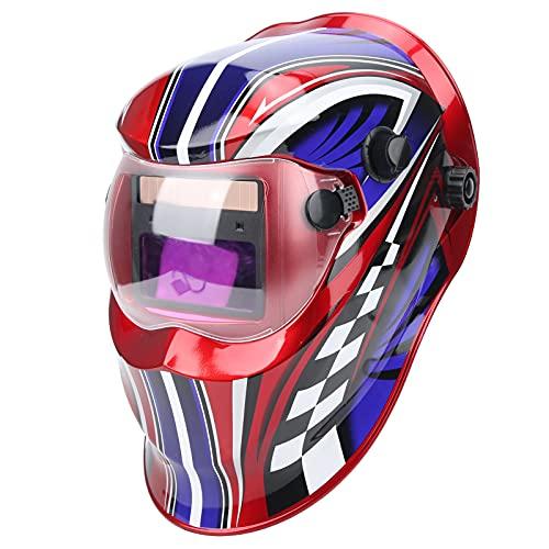 Máscara de soldadura, Cubierta de soldadura montada en la cabeza Atenuación automática Protección facial completa Casco Gorra de soldador eléctrico