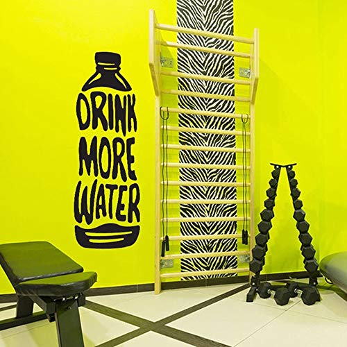 YIYEBAOFU Elvis Muurstickers Boatswater Fles Decal Drink Meer Water Fitness Motivatie Vinyl Muurstickers Gym Wanddecoratie Jongen Man Grot Ro40x114cm