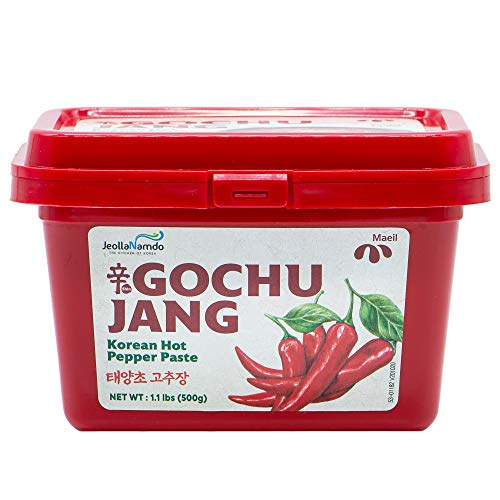 Spicy Gochujang Seasoning Sauce [ Korean Pantry ] Sweet Fermented Chili Pepper Paste, Perfect Jang Sauce for Dips and Marinades [ JRND Foods] 500g