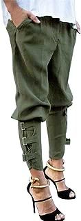 Kirbyates Women's Casual Harem Baggy Hip Hop Dance Jogging Sweat Pants Slacks Personalized Trousers Army Green
