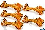 DD-Tackle Huesos de vaca, tamaño XXL, 45 – 60 cm, hueso natural Jumbo vacuno, masticar, huesos de jamón