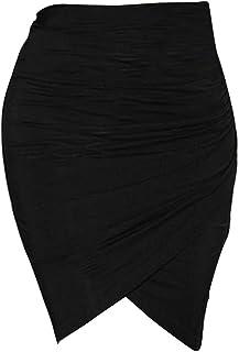 Demiawaking レディース セクシータイトスカート 膝丈 無地 夏 スリム パーティードレス OL 全3色選べる