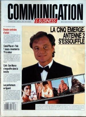 COMMUNICATION [No 76] du 25/04/1988 - LA CINQ EMERGE - ANTENNE 2 SESSOUFFLE - G. DURAND - DOSSIER CENTRALES DACHAT - CANAL PLUS ET TELE 7 JOURS INVENTENT LA TELE A ODEUR - CAFE - SAN MARCO SENGOUFFRE DANS LA BRECHE - LES PARFUMEURS SE LIGUENT