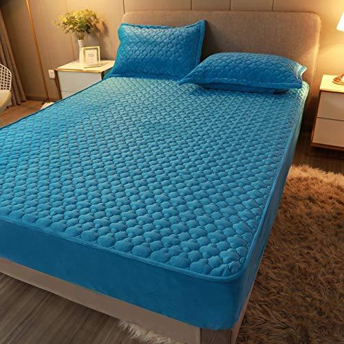 Xiaomizi Lujoso cojín inferior y dobladillo elástico que se ajustan a tu cama hipoalergénica. 200 x 220