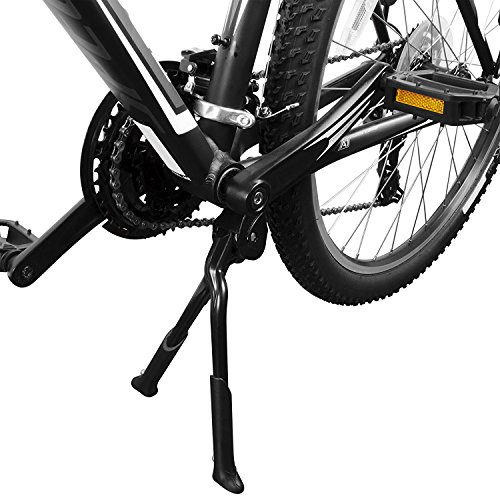BV Bike Kickstand, Center Mount Bicycle Stand - Length Adjustable, Foldable Double Leg