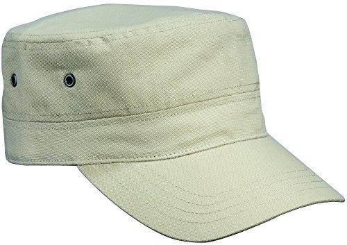 2Store24 Cap im Military Stil aus robustem Baumwoll Canvas - Military Cap in khaki