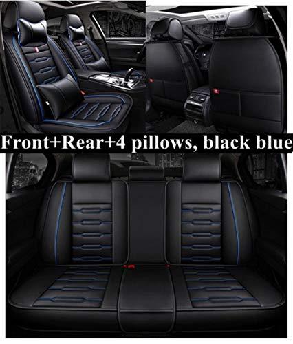 Youthus Sitzbezüge Auto Set Autositzbezüge Leder für Volkswagen Passat B5 B6 B7 B8 Polo Golf 4 5 6 7 Bora Candy...