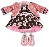 Götz 3403147 Kombination Lässig - Puppenbekleidung Gr. XL - 4-teiliges Bekleidungs- und Zubehörset für Stehpuppen 45 - 50 cm