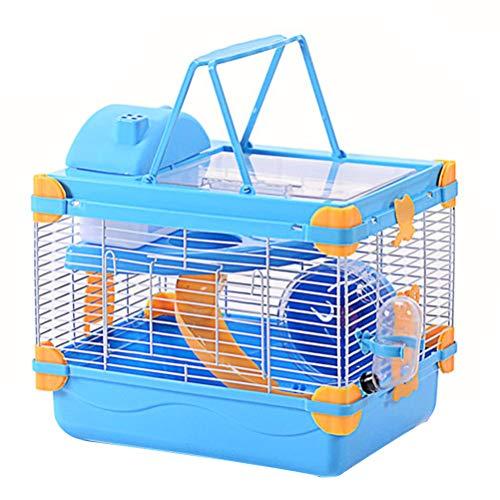 Balacoo Jaula para Hámster Jaula para Animales Pequeños Hábitat con Tragaluz Refugio para Mascotas Nido Casa Escondite Cabaña Viviente Castillo para Conejillo de Indias Conejos Jerbo
