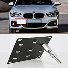 JahyShow Front Bumper Tow Hook License Plate Mount Bracket Holder Bolt On For BMW E82 E88 E90 E91 E92 E93 E70 E71 128i 135i 1M 325i 328i 330i 335i M3 X 5 X6