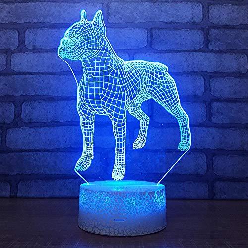 T-YXM 3D pequeño Leopardo luz acrílico Noche Dormitorio luz decoración Remoto Color cambiable USB luz Nocturna Festival de Regalo