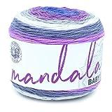 Lion Brand Yarn Company 526-210 Mandala Baby Yarn, Magic Moon, una madeja